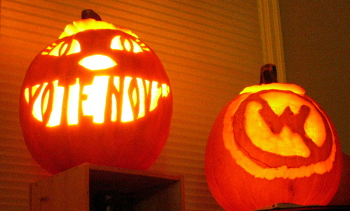 Our Pumpkins for Halloween 2004
